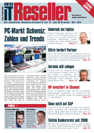 Swiss IT Reseller Cover Ausgabe 2013/itm_201303
