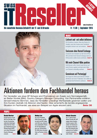 Swiss IT Reseller Cover Ausgabe 2015/itm_201509