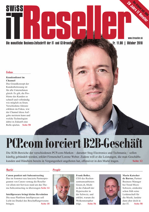 Swiss IT Reseller Cover Ausgabe 2018/itm_201810