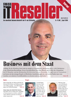 Swiss IT Reseller: Cover der  Ausgabe 2019/04