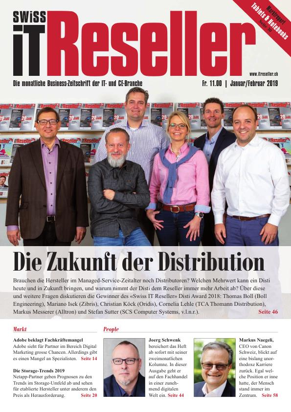 Swiss IT Reseller Cover Ausgabe 201901