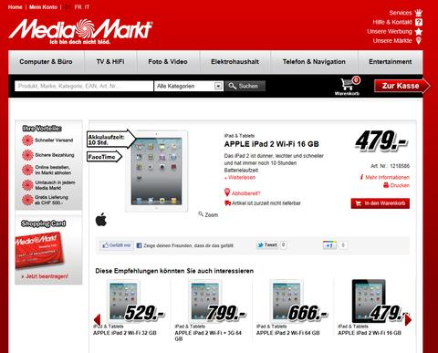 media markt nimmt schweizer online shop in betrieb it reseller. Black Bedroom Furniture Sets. Home Design Ideas