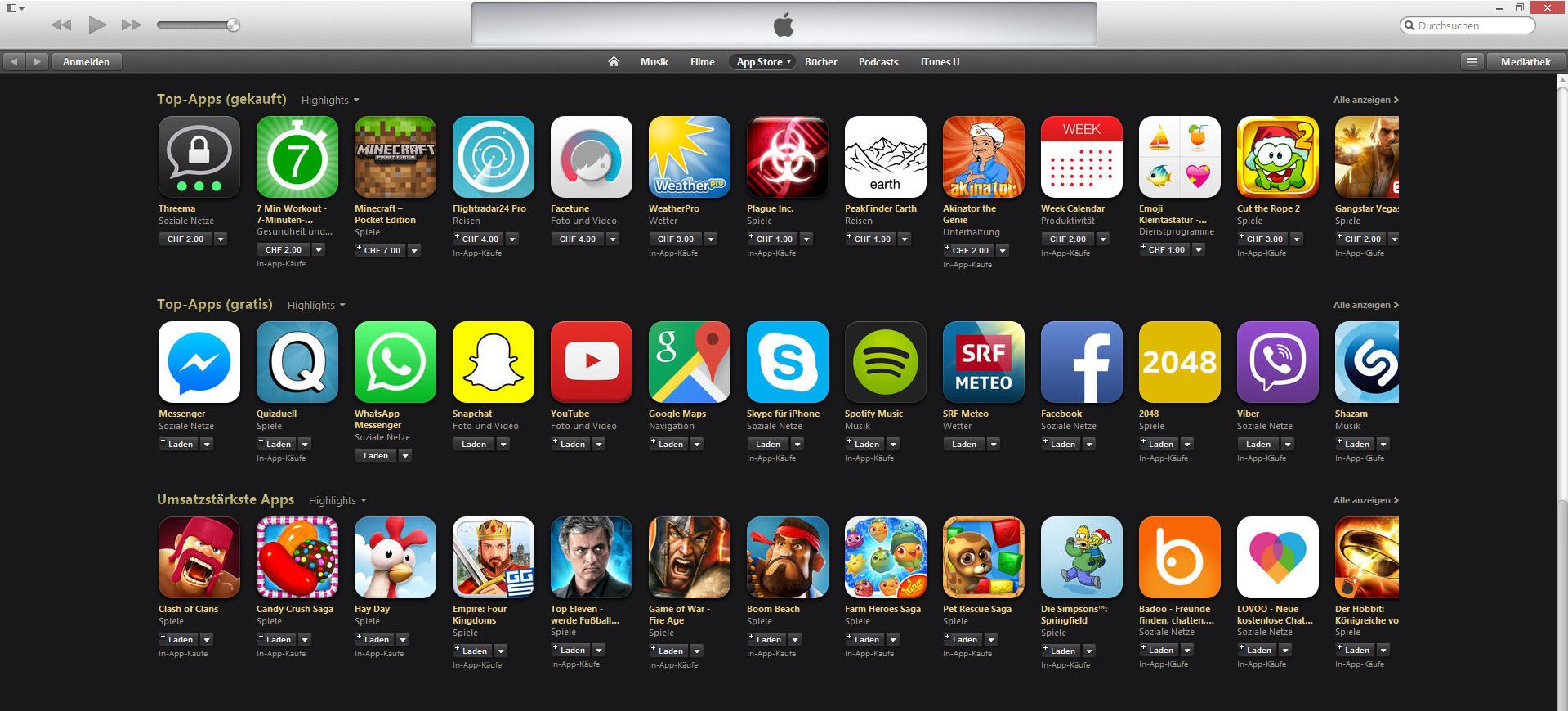 Beliebte Iphone Apps