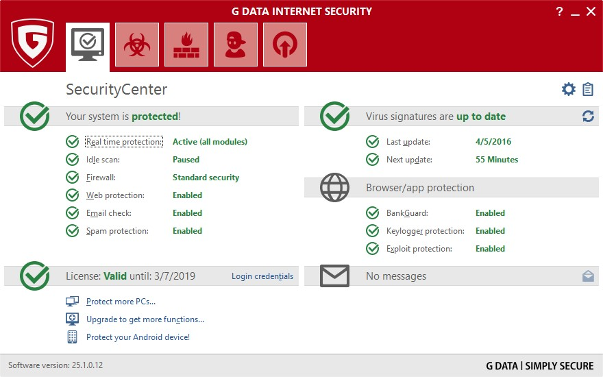 G data internetsecurity 2016 22 0 9 1 patch 2016