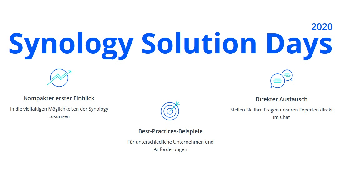 Synology Solution Days 2020 finden als Webinar-Serie statt